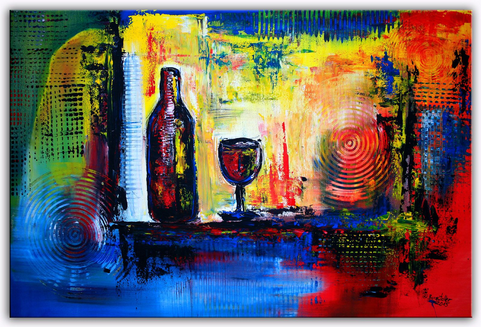 Www Burgstallers Art De Wein Stilleben Abstrakt Acrylbild Auf