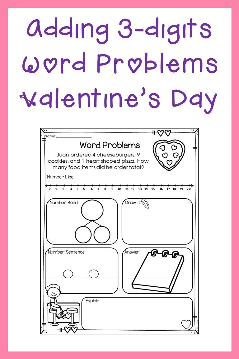 Adding 3 Numbers Word Problems Worksheets Pack With 9 Different 3 Digit Addition Word Problems Up To 20 S Word Problems Addition Words Word Problem Worksheets Digit addition word problems with