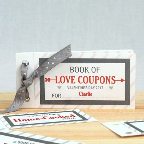 personalized love coupon book for him valentine s day pinterest