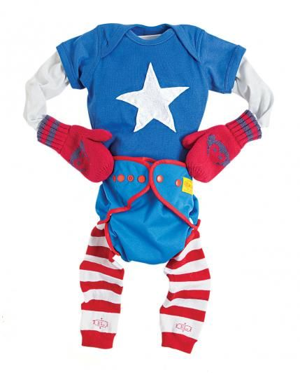 DIY Infant Halloween Costumes Captain america costume, Infant - diy infant halloween costume ideas