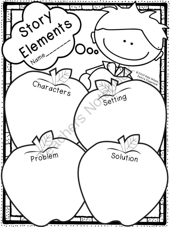 Story Elements Graphic Organizer Apples ELA Language
