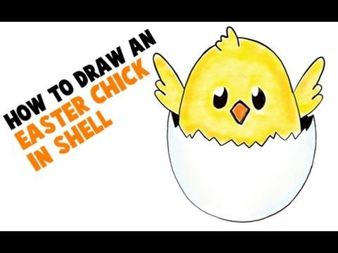 How to draw a baby chicken - photo#41