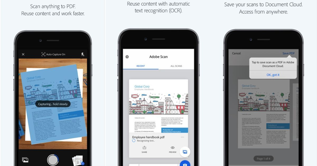 Adobe scan uses ai to find documents in your photo gallery