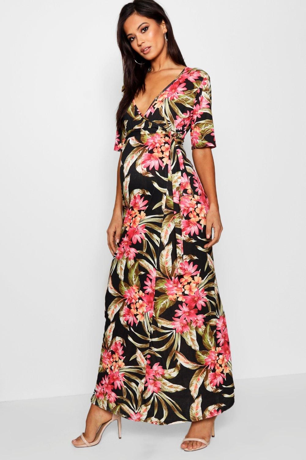 0ef465580c66 Click here to find out about the Maternity Tara Nursing Wrap Maxi Dress  from Boohoo, part of our latest Maternity Clothing collection ready to shop  online ...