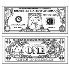 Money Coloring Pages Free Printables George Washington