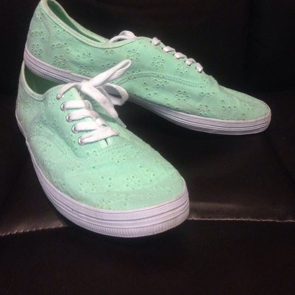 15e9caa914b4 City Sneaks Mint Green Eyelit Sneakers Mint green sneakers are spring  ready! You ll