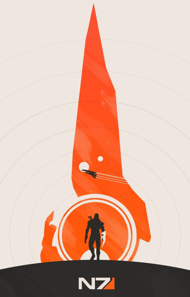 Here S Two Out Of The Six Minimalist Mass Effect Posters Released By Artist Noble 6 Yesterday Mass Effect Poster Mass Effect Mass Effect Tattoo