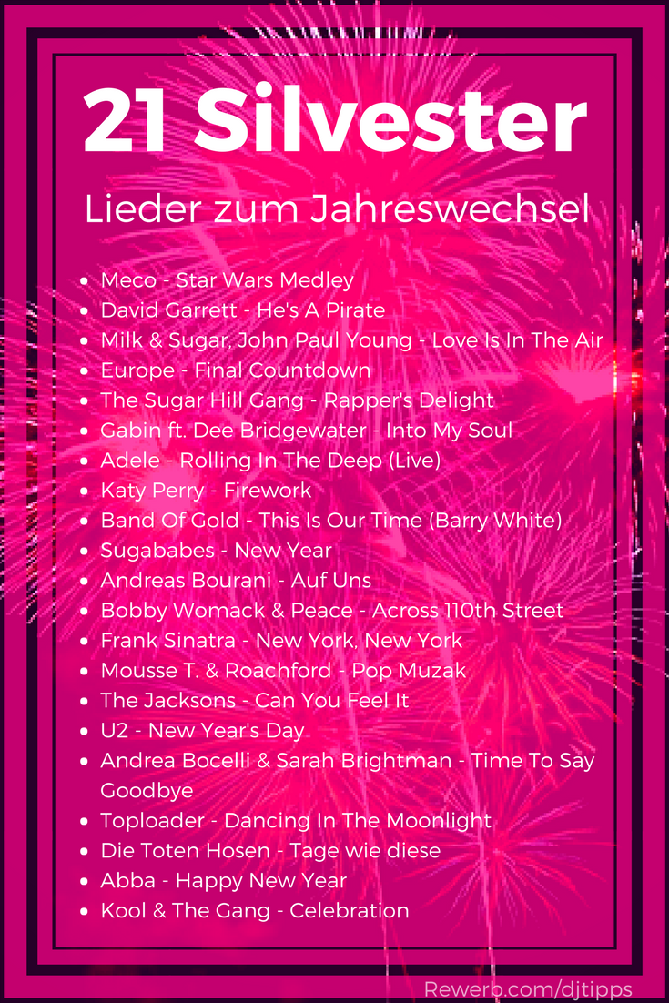 21 #Silvester-Songs zum Jahreswechsel, #Lieder gegen den Mitternachts-Durchhänger Dafür habe ich #Musik zusammengestellt, die thematisch passt und die festliche #Stimmung unterstützt. #Silvester #HappyNewYear #Mitternacht #afrikanischehochzeiten