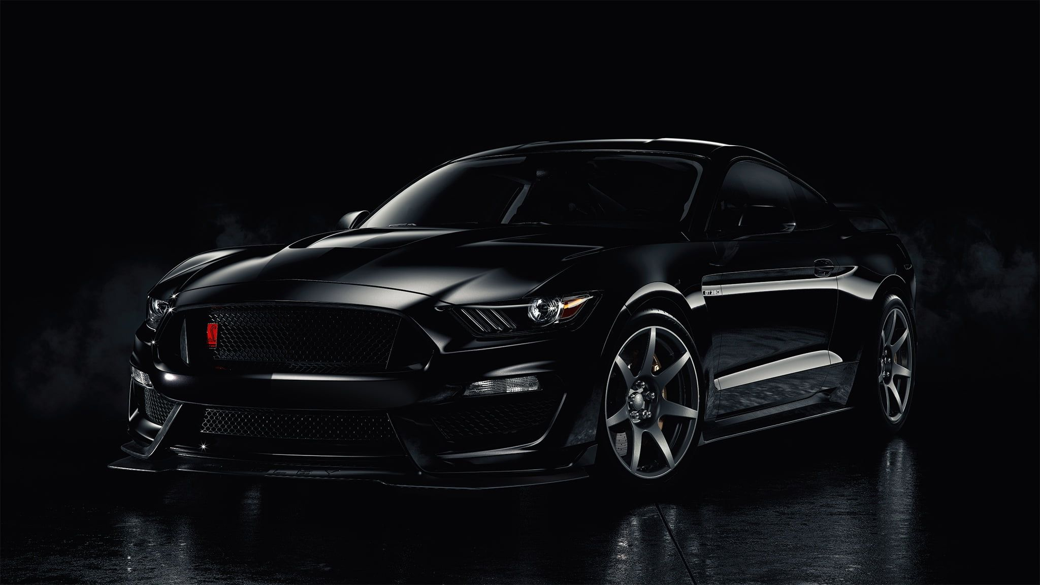 Black Car Mustang Ford Black Smoke Backgraund 1080p Wallpaper Hdwallpaper Desktop Black Car Mustang Ford Mustang Shelby Gt500