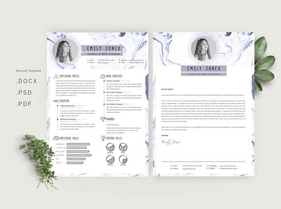 marble simple resume template    cv template  c
