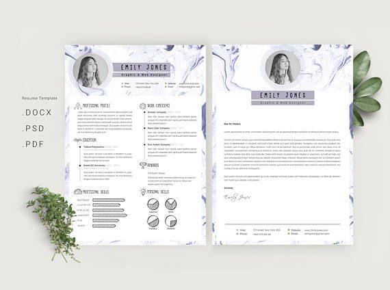 Marble simple Resume Template \/ CV Template Workshop Pinterest - simple cv template