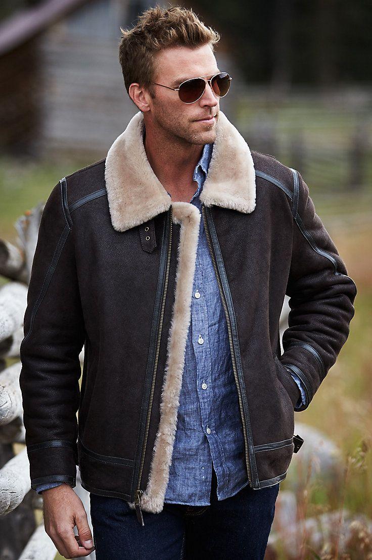 Brody Sheepskin Bomber Jacket Leather Jacket Outfit Men Leather Jacket Men Sheepskin Jacket [ 1109 x 736 Pixel ]