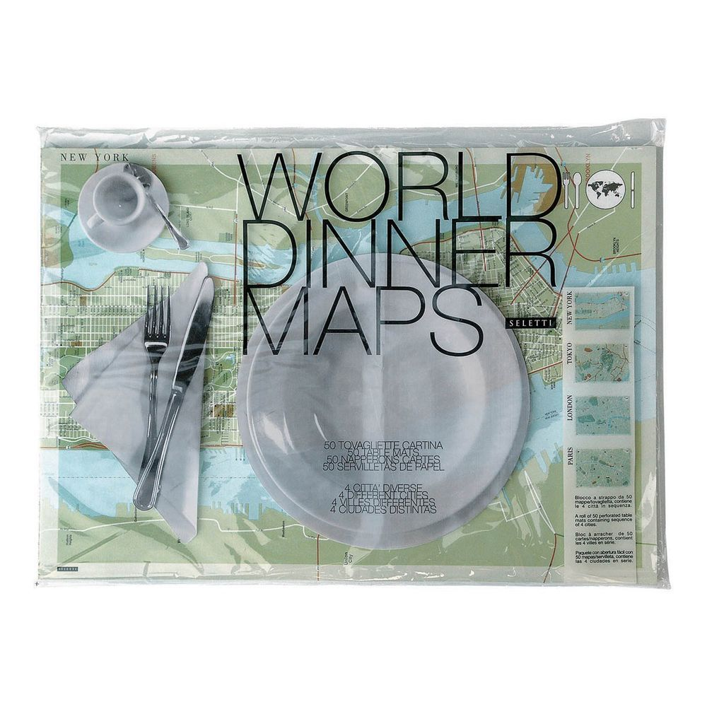 Seletti world map dinner placemats set of 50 paper place setting seletti world map dinner placemats set of 50 paper place setting seletti contemporary gumiabroncs Images