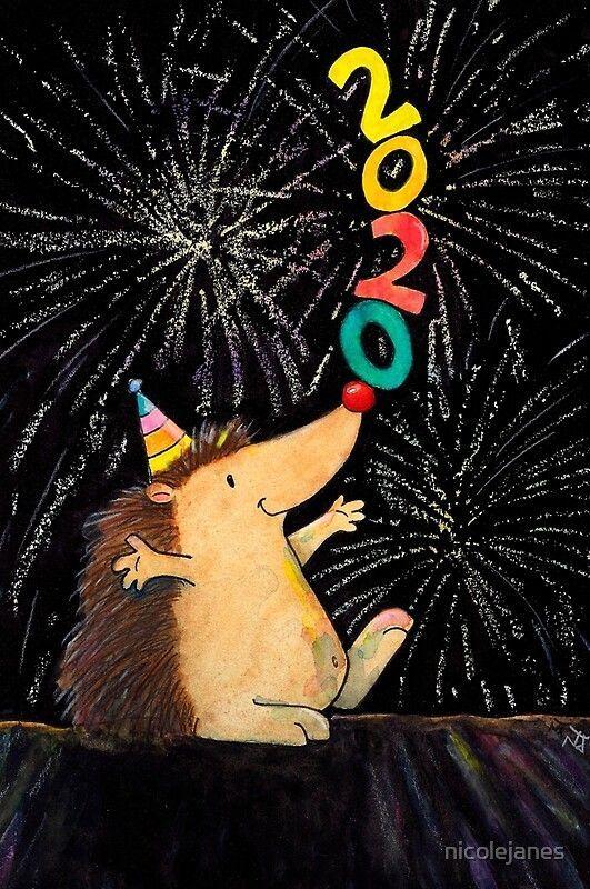 'Carte de voeux pour le nouvel an 2020 par Nicole Janes