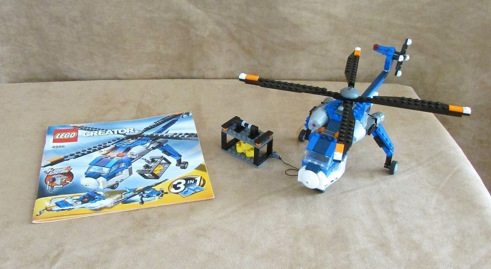 4995 Lego Complete 3 In 1 Creator Cargo Copter Instructions