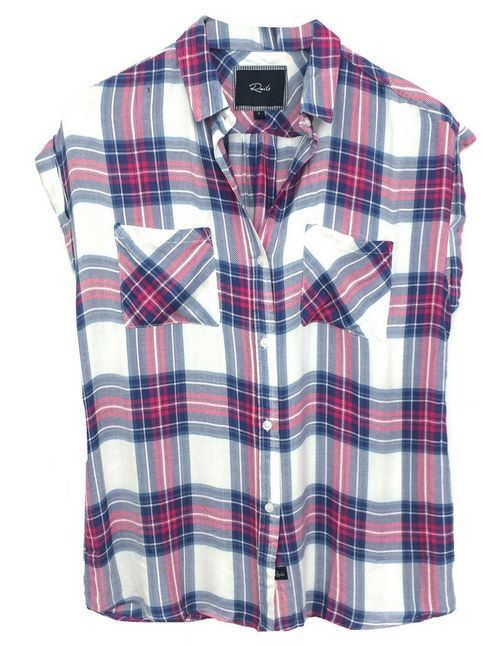 082cba5de59b Short sleeved plaid Rails | Tops | Fuschia dress, Plaid, Fashion