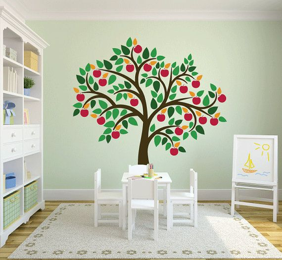 tree wall decals apple tree decal custom colorsartlabny, $80.00