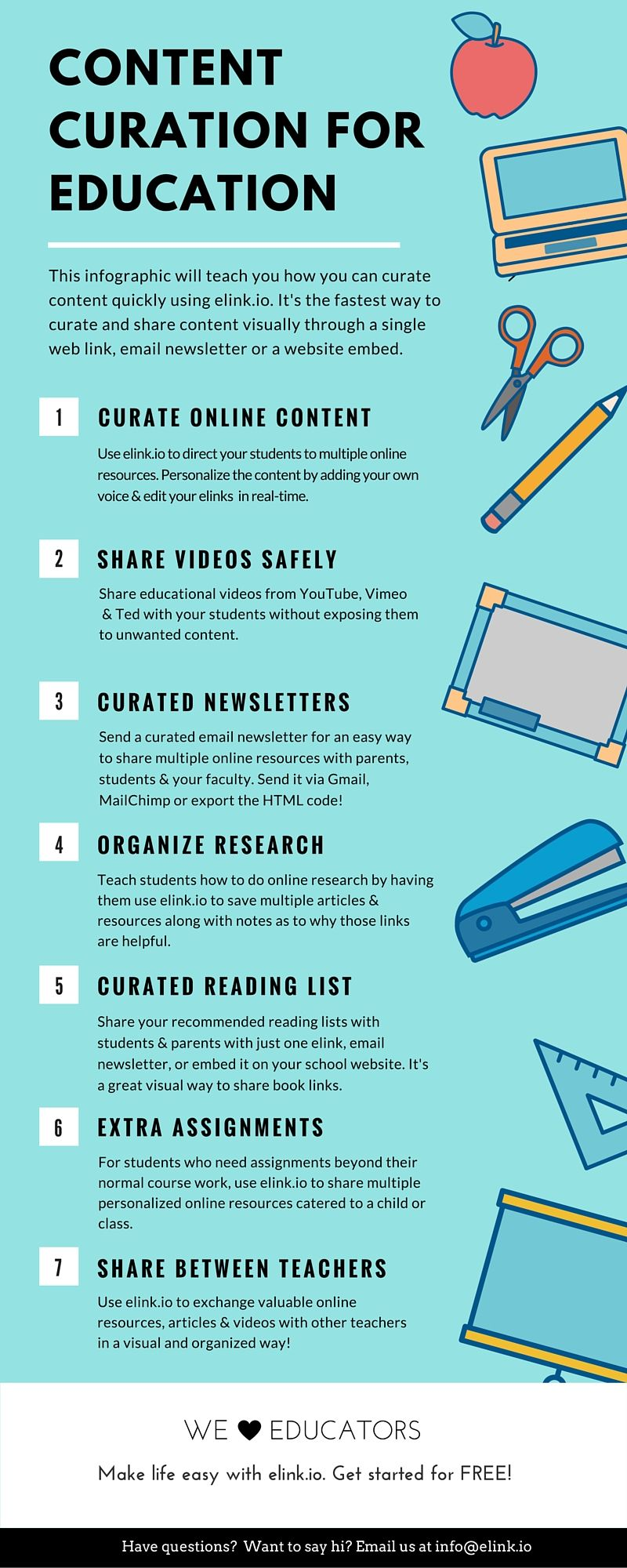 Content Curation For Education #infographic