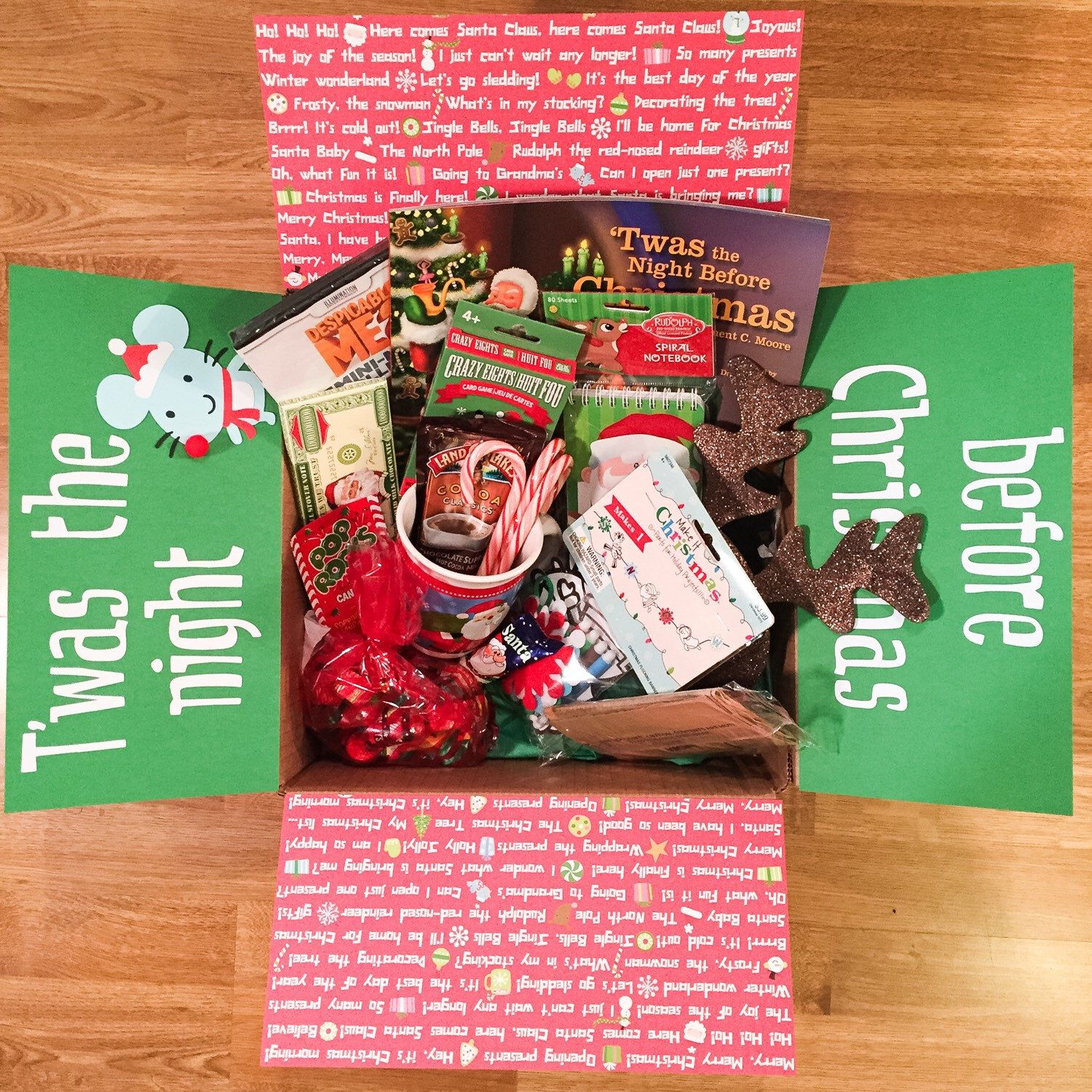 Twas The Night Before Christmas Kids Care Package Child Care Package Gift Box Gift Basket Bff Christmas Gifts Bff Christmas Christmas Care Package