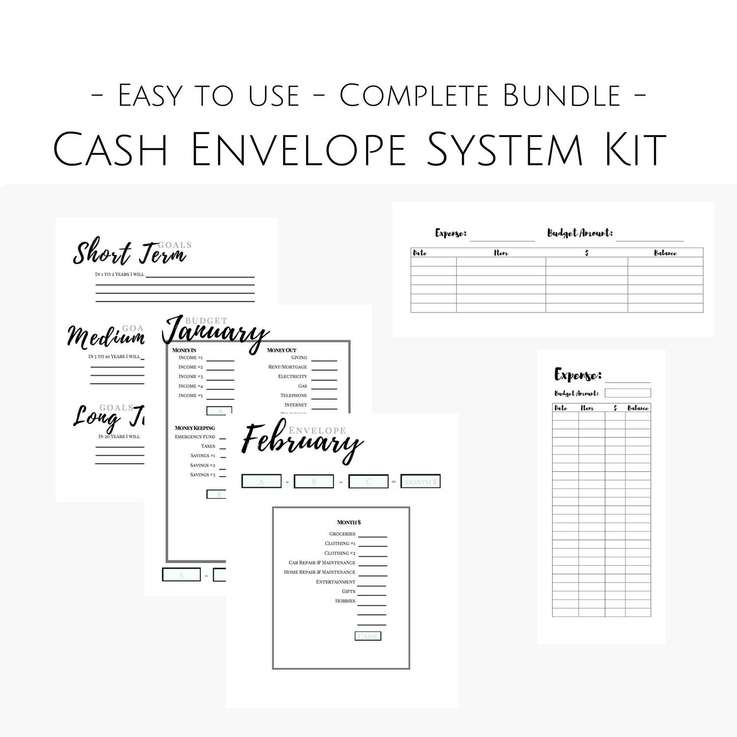 This Cash Envelope System And Finance Planner Download Is Just What You Need To Jump Start Your