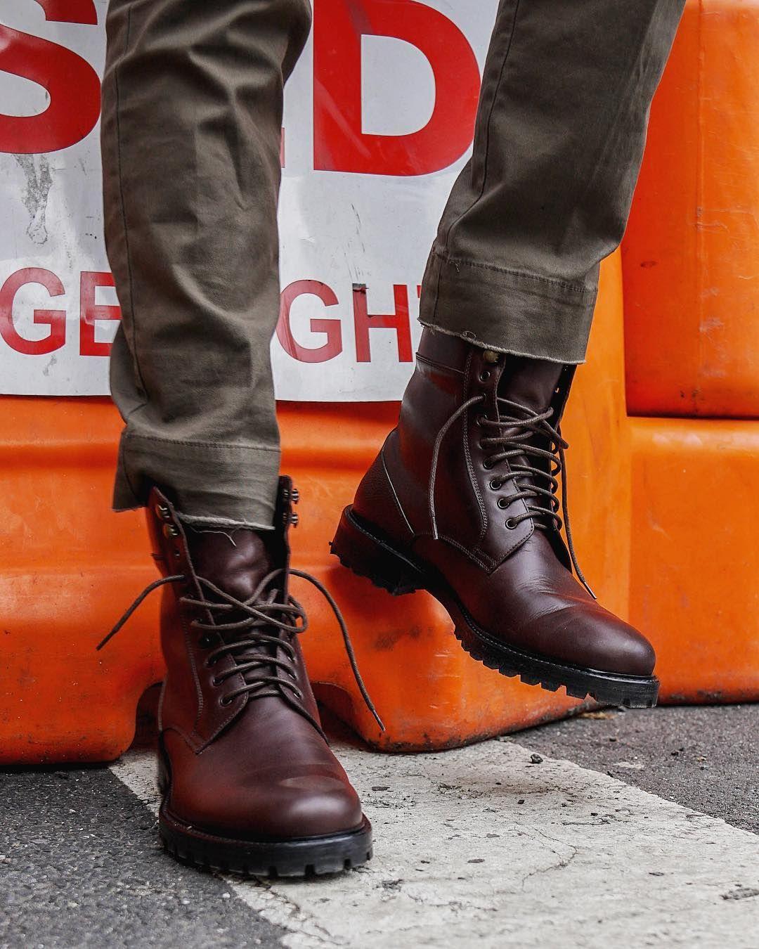 365316e267e Ankari Floruss leather Combat Boot in Dark Brown   Tags: on feet ...