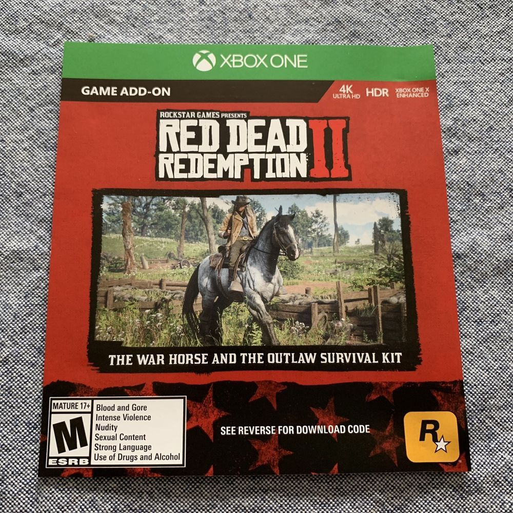 Red Dead Redemption 2 War Horse DLC Code Xbox Free Shipping