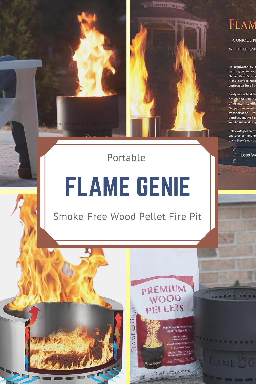Flame Genie Wood Pellets Cord Wood Flames