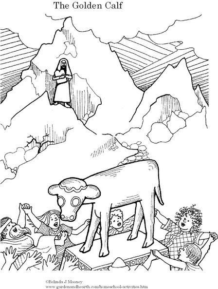 Aaron & the Golden Calf - Belinda J Mooney   Bible: Moses   Golden ...