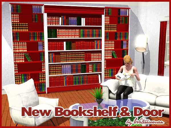New Bookshelf And Door By Waterwomen