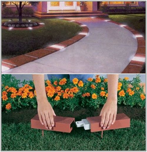 Entertainer Edging- Lighted Brick Edging How Cool Is That