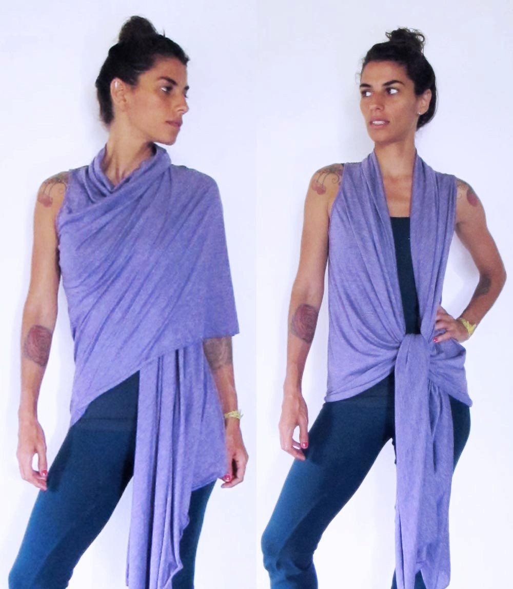 84a692929c1 Wrap around shawl vest top. Multi - yoga clothes - dance - fitness ...