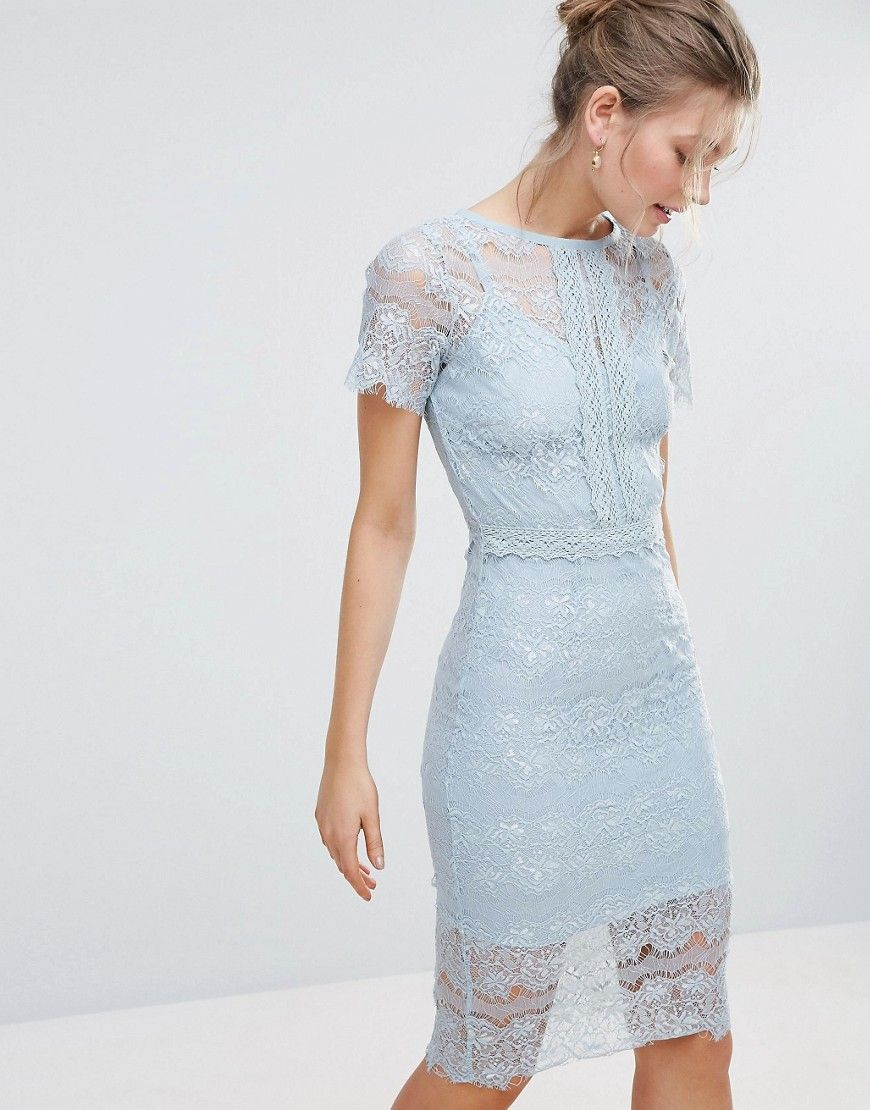 Lace dress with cape  Bodyfrock Bodycon Lace Midi Dress with Cape Sleeve and Lace Trim