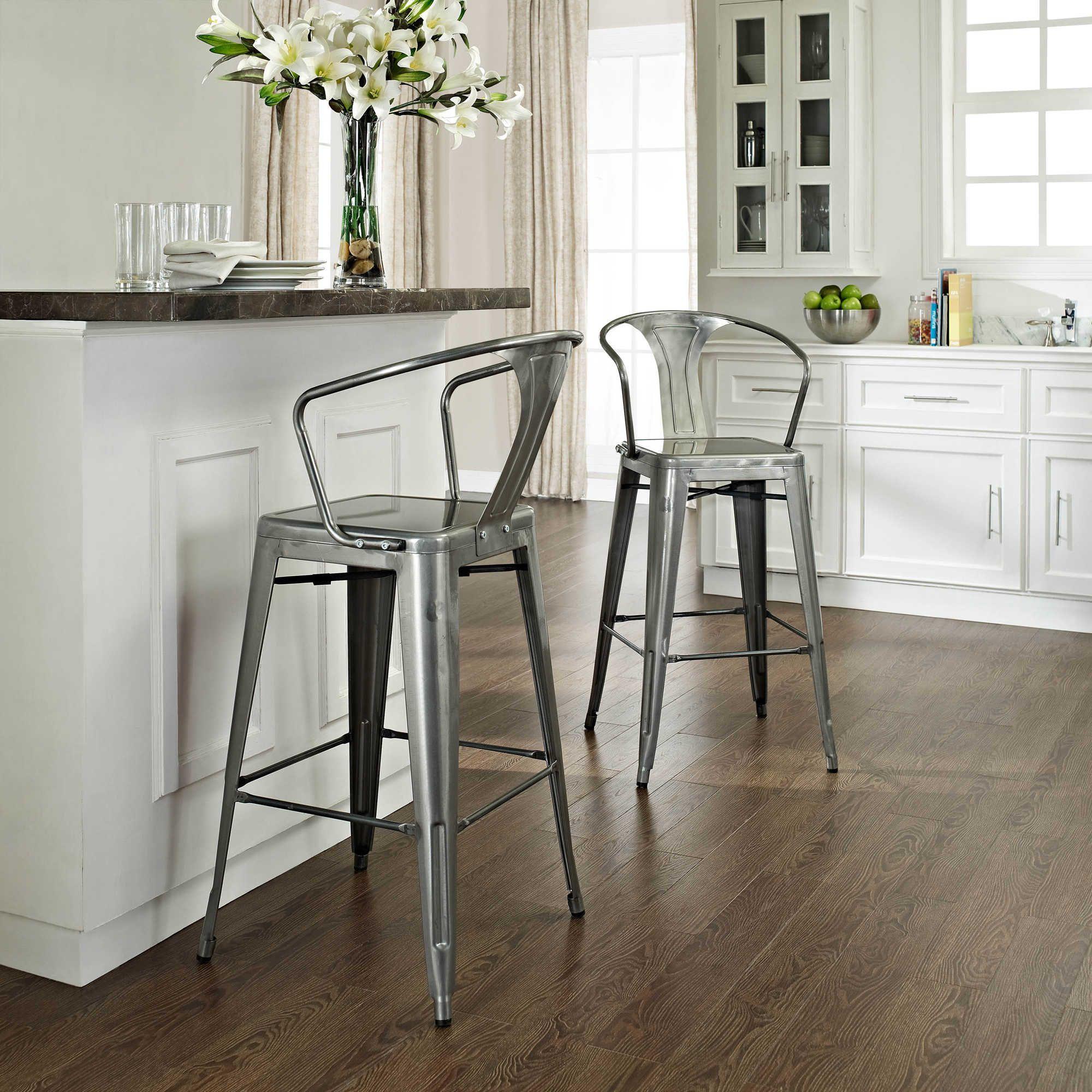 Sensational Crosley Amelia Cafe Barstools Set Of 2 Metal Bar Stools Creativecarmelina Interior Chair Design Creativecarmelinacom