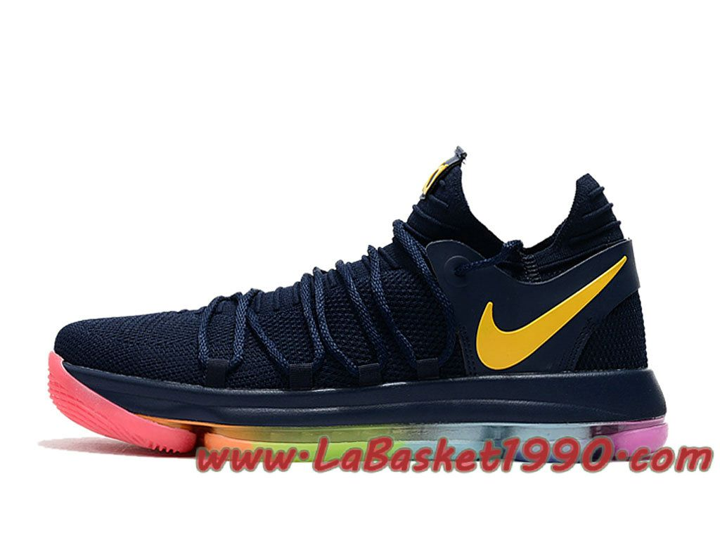 Nike KD 10 ID Chaussures Nike Basket Pas Cher Pour Homme Noir Rouge  897815-A002