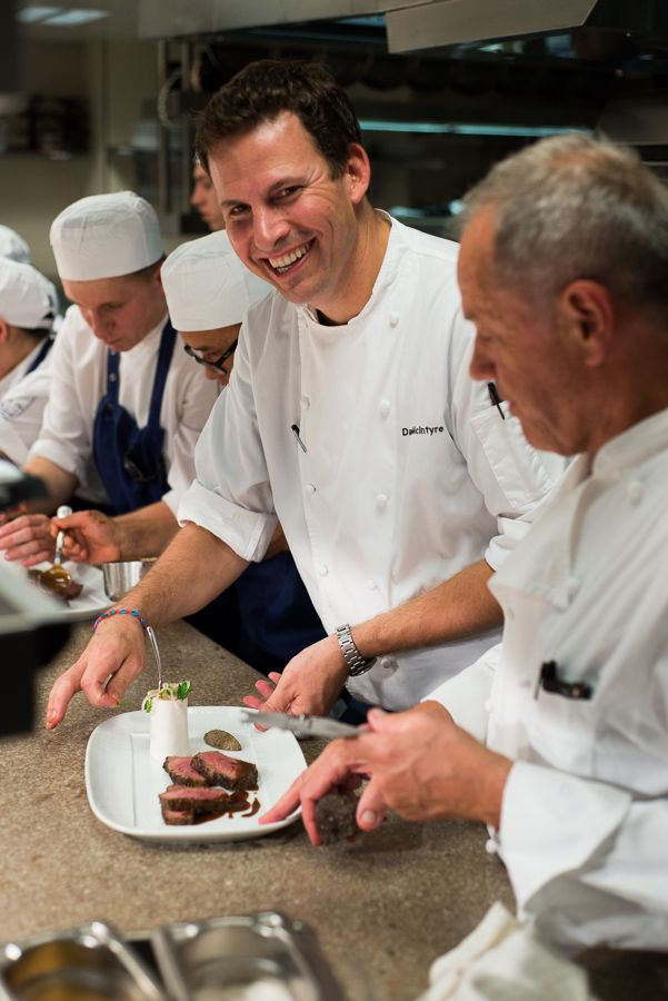 Team Work In The Kitchen With The Executive Chef David Mcintyre