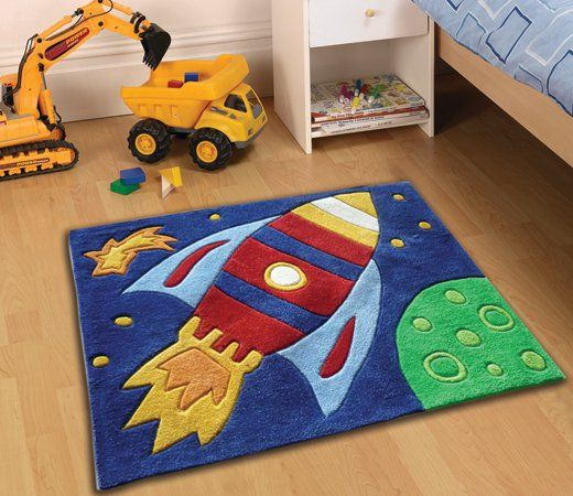 Rug For Little Boys Room: Space Rocket Rug Pinned For Kidfolio, The Parenting Mobile