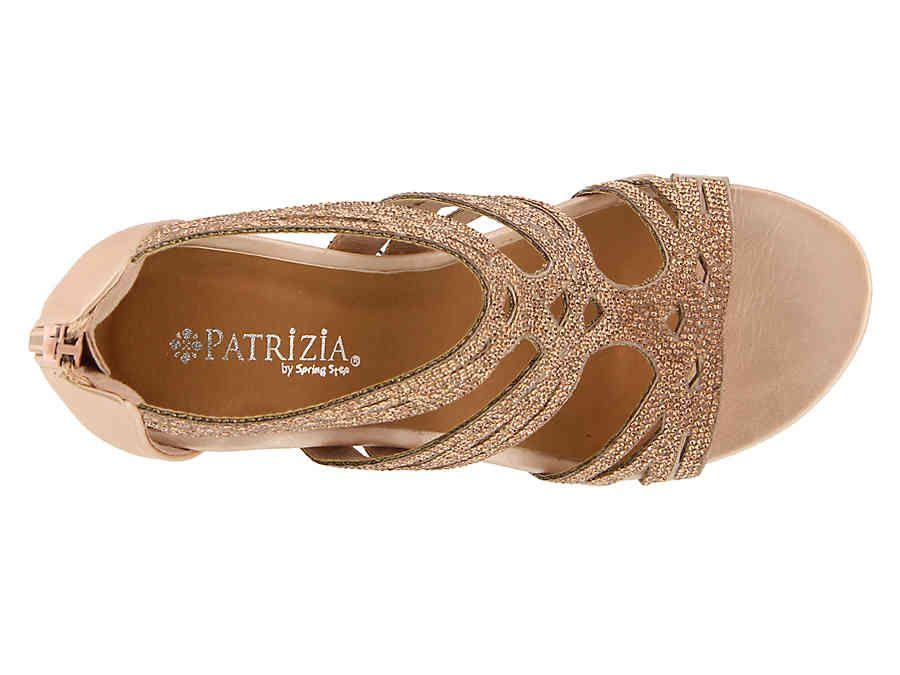 417acfdb18e7 Patrizia by Spring Step Sparkling Wedge Sandal Women s Shoes