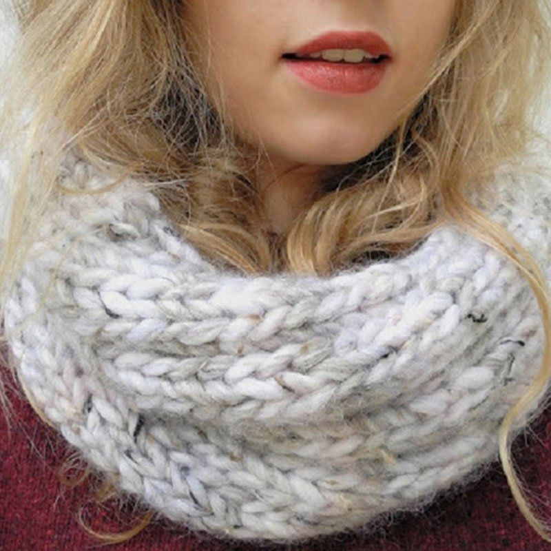 Snood gris clair | mes modeles | Pinterest | Stricken
