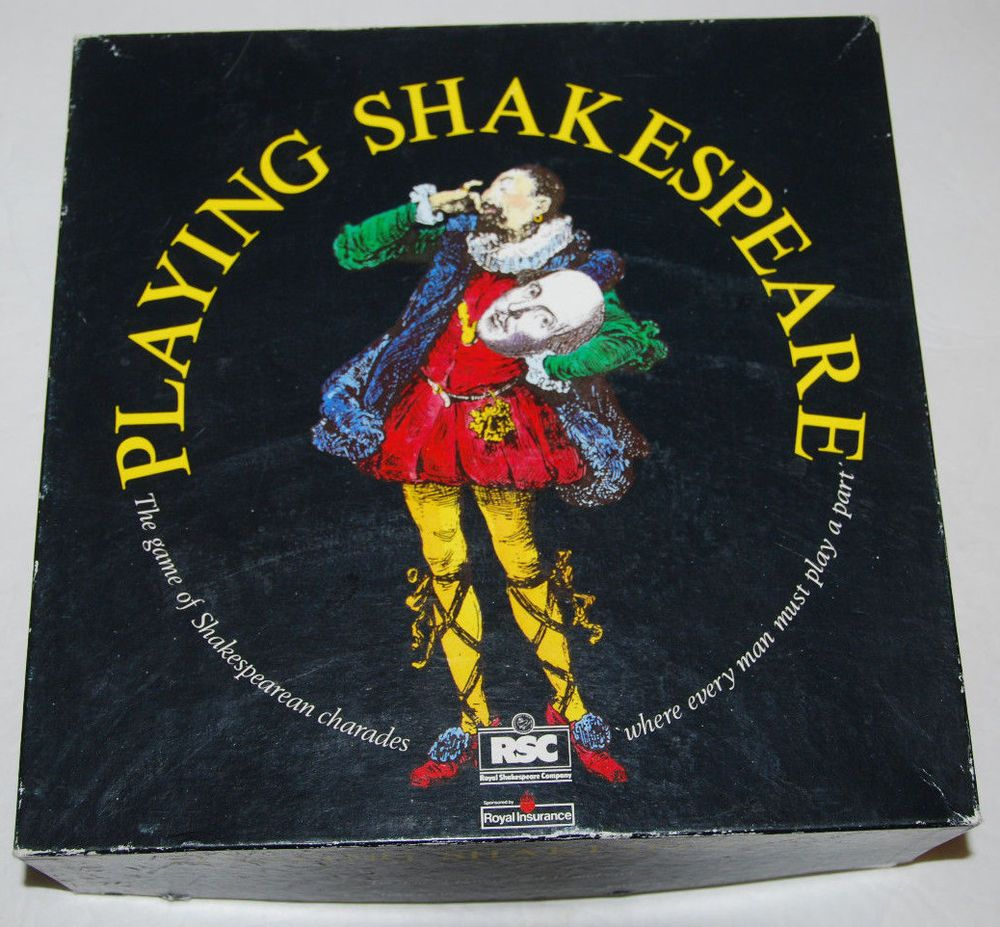 Playing Shakespeare Board Game Vintage 1990 Rare Charades Family Drama Thespian  #OxfordGames #Shakespeare #Boardgame