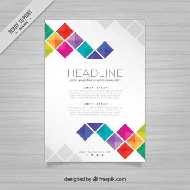 brochure template with squares vector free download