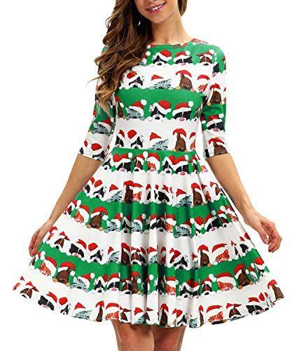Enjoy exclusive for ENLACHIC Women\u0027s 3D Ugly Christmas Maxi Dress
