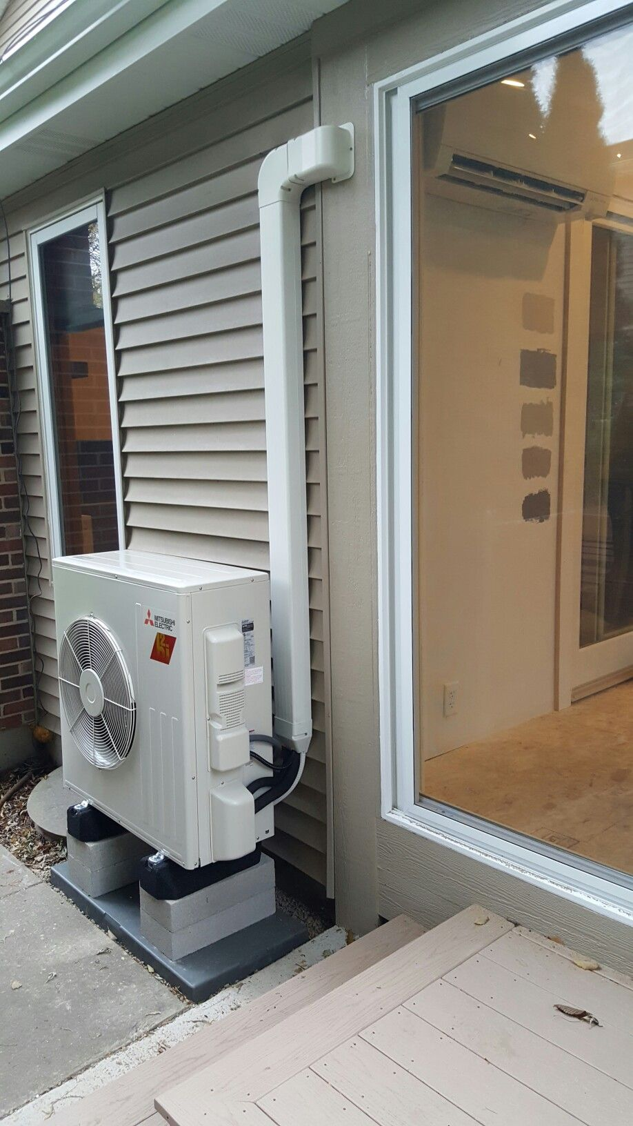 Sunroom Addition Being Heated And Cooled With A Mitsubishi Hyper Heat  Ductless Heat Pump. Installed By Compass Heating And Air Conditioning, Inc.