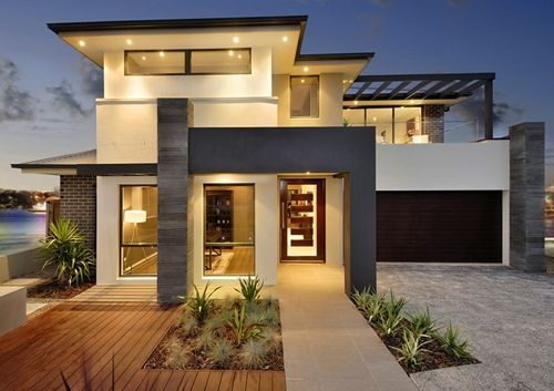 Dramatic contemporary exteriors google search drexel for Modern house exterior remodel