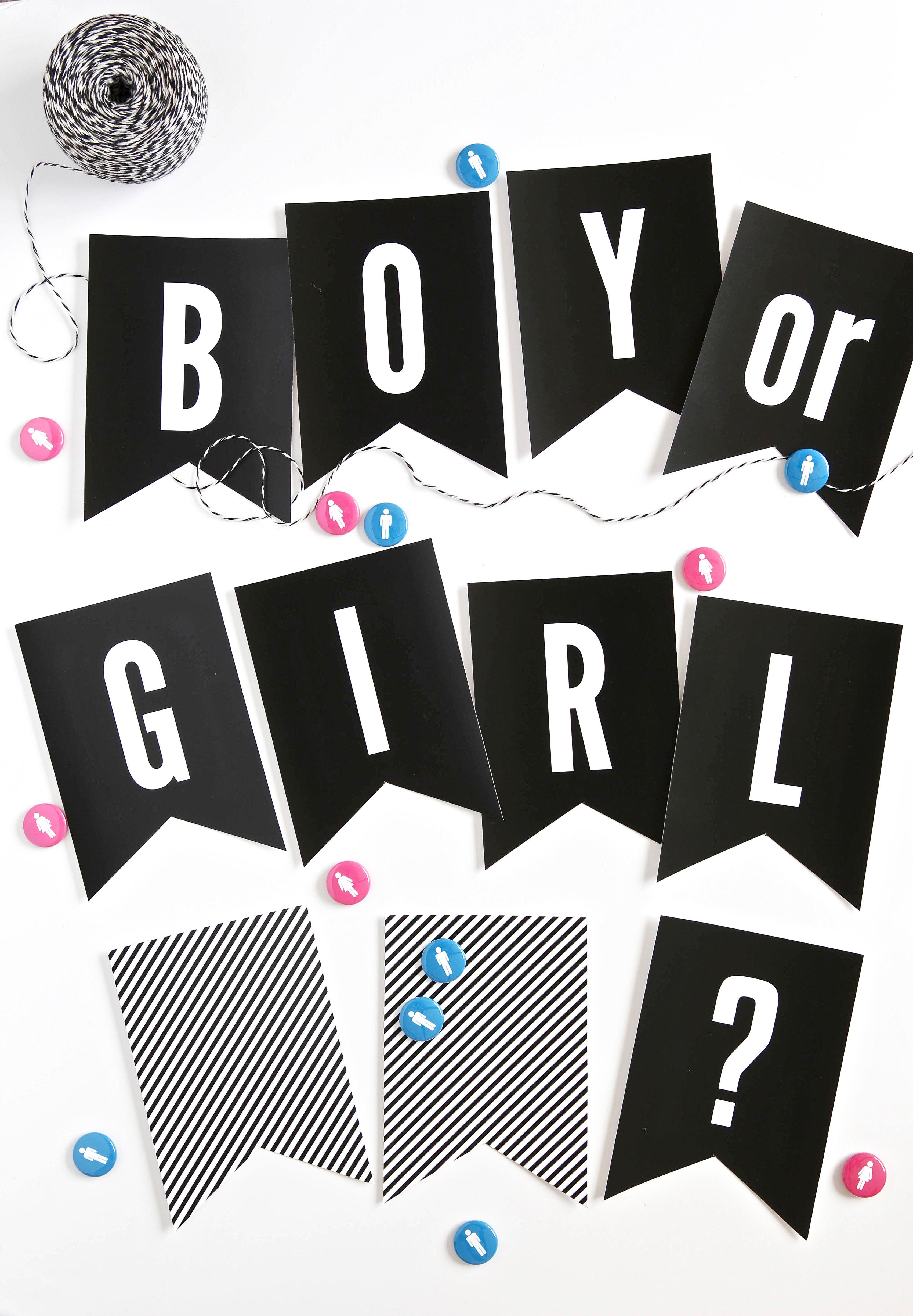 Gender Reveal Party Ideas Free Printables For Gender