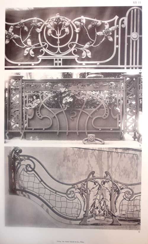 Art Nouveau Decorative Ironwork Ostereich Ungarn Anton Irving Zucker