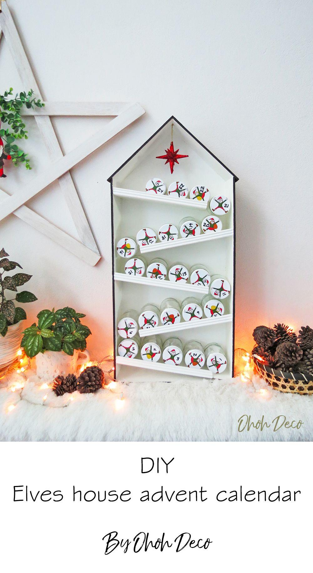 DIY Elves advent calendar - Ohoh deco