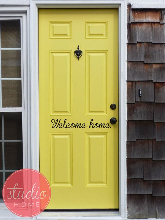 WELCOME HOME - Wall Art - Wall Vinyl - Wall Sticker - Wall Decal on Etsy, $19.99