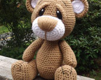 Amigurumi Crochet Patterns Teddy Bears : Teddy bear amigurumi crochet pattern pdf instant download theo