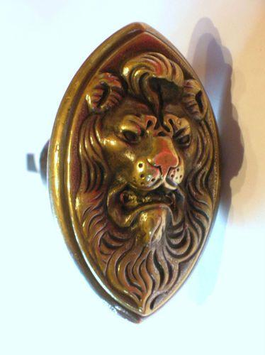 ancienne poignée poignees bouton de porte bronze serrure signée ST