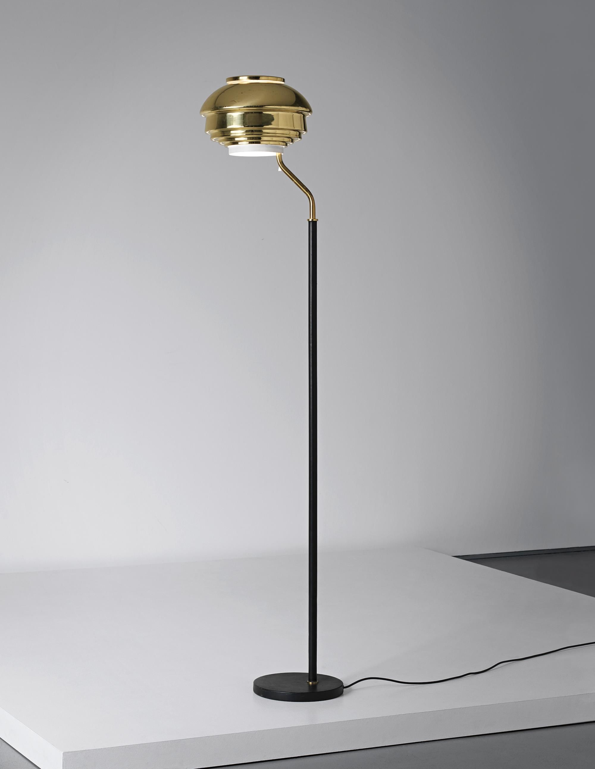 Alvar Aalto Floor Lamp Model No A 808 Designed For The National  # Fabrica De Muebles Wimpy